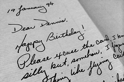 Happy Birthday letter from Henry Ogrodzinski